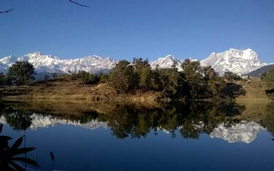Reflection of Himalayan peaks in Deoriatal