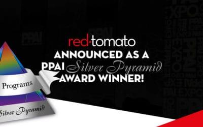 Red Tomato announced a PPAI Silver Pyramid Award Winner!