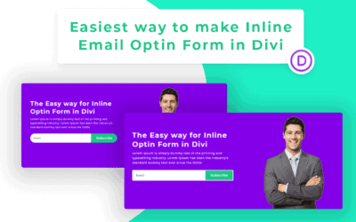 Easiest Way to Create Inline Email Optin Form  in Divi