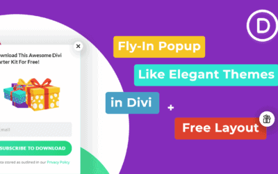 How to create a Fly-In Popup like Elegant Themes in Divi