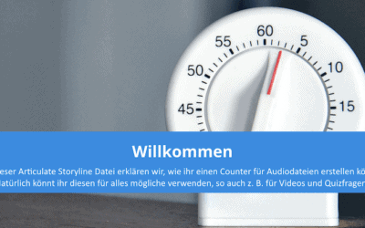 Articulate Storyline Counter für Audio oder Videos