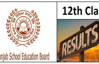 PSEB Result Punjab School Education Board announces the results of 12th examination