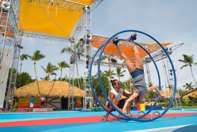 Club med's cirque du soleil circus school is for kids and adults