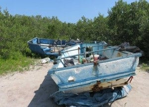 Refugee rafts at Biscayne National Park in Homestead. (Photo: Bonnie Gross)