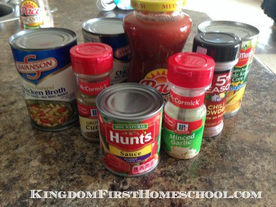 Simple Chicken Taco Soup | Kingdom First Homeschool