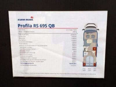 Euramobil Profila RS695 QB Grundriss
