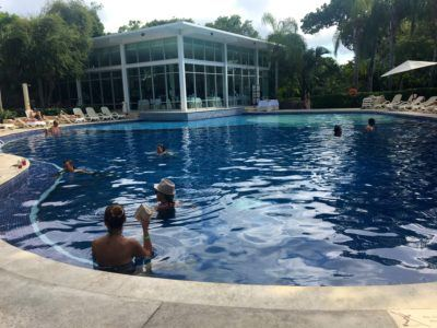 The adults-only pool and alux restaurant at bahia principe