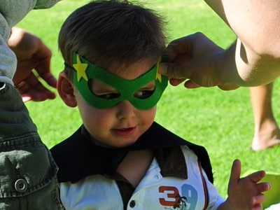Superhero Mask Template - Birthday party ideas