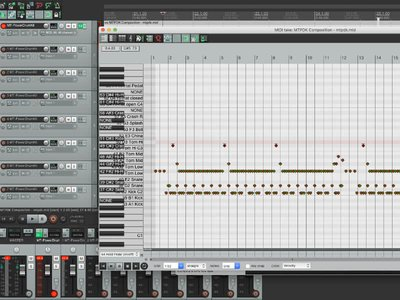Program Drum Track in Reaper