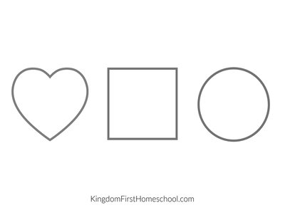 Free Printable Shape Mat for teaching Preschoolers to follow directions