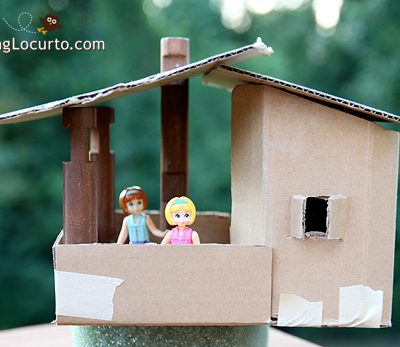 Cardboard Playhouse – Kids Tree House Craft