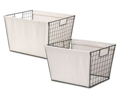 Wire Tote Basket Bed Bath Beyond | OPAS Blog | Home Organization Products