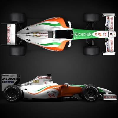 1221 2009 F1 Force India VJM02