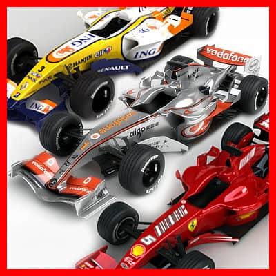 700 2007 F1 McLaren Ferrari Renault Pack