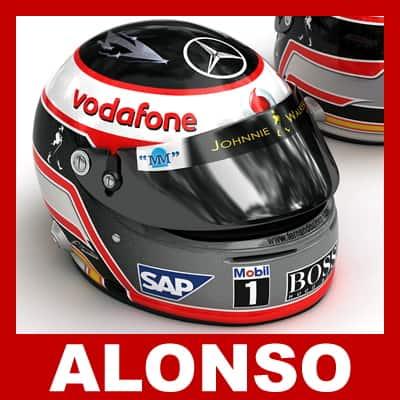 727 2007 F1 McLaren Helmets and Steering Wheel