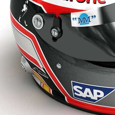 739 2007 F1 McLaren Helmets and Steering Wheel