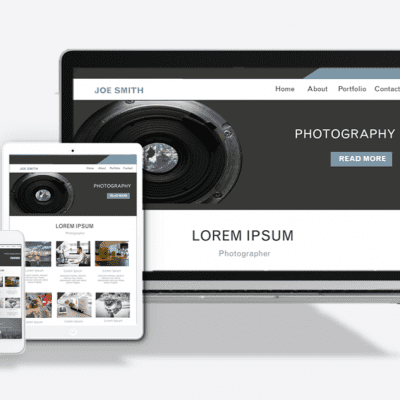 Photography Website Theme