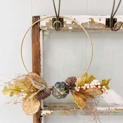 fall gold hopp wreath
