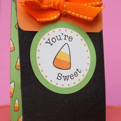 Halloween Candy Corn Bag & Tag Printables