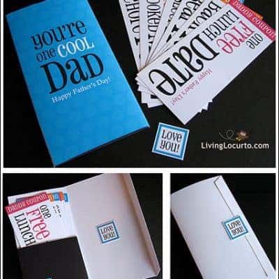 Printable Father's Day Card and Coupons