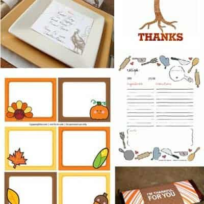 16 Thanksgiving DIY Free Printables