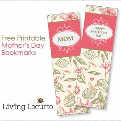 Mother's Day Bookmarks & Coloring Sheet {Free Printable}
