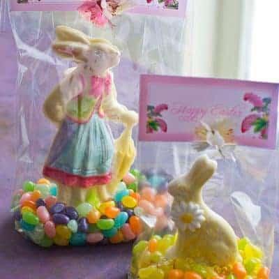 Chocolate Bunny Edible Craft & Free Printable Easter Tags