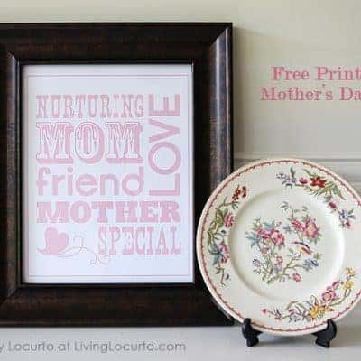 Mother's Day Free Printable Subway Art