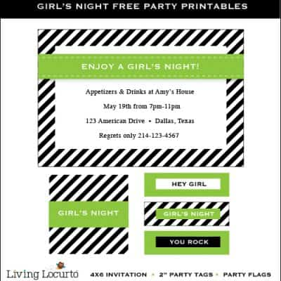 Girls Night Free Party Printables