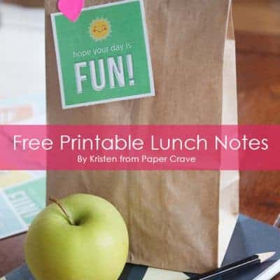 7 Free Printable Lunch Box Notes