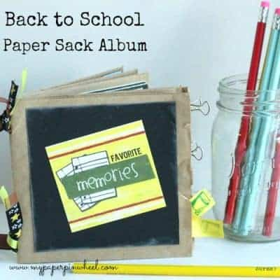 Back to School Paper Bag Album Craft
