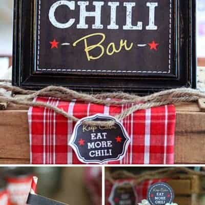 Chili Party Ideas and Free Printables