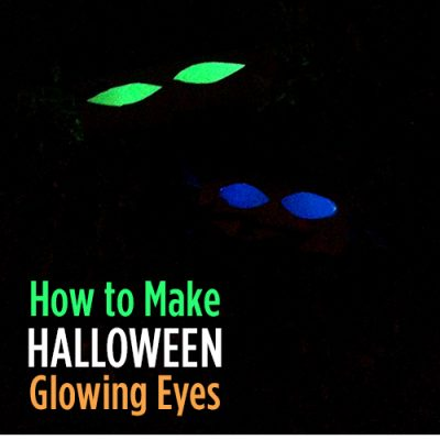 How to Make Glowing Eyes – Easy Halloween Haunted Decor