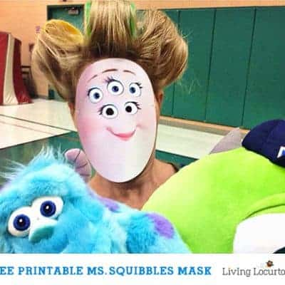 Monsters University Ms. Squibbles Mask {Free Printable}