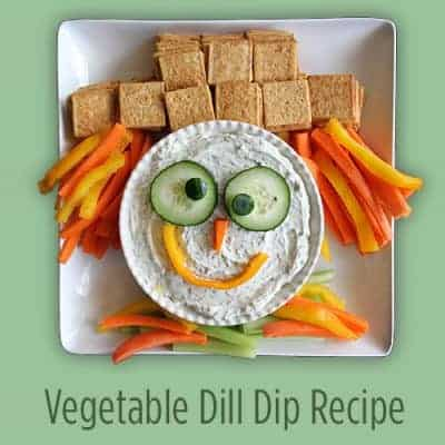 Scarecrow Veggie Tray and Vegetable Dip Recipe
