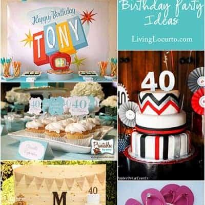 10 Amazing 40th Birthday Party Ideas
