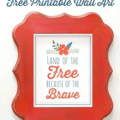 Free Printable Patriotic Wall Art {Red White & Blue Blog Hop}