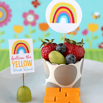 Free Rainbow Party Printables – Legends of Oz: Dorothy's Return Healthy Snack