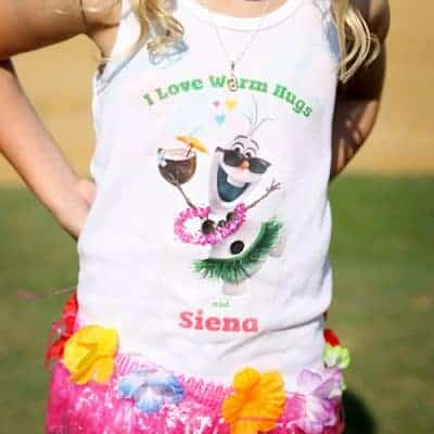 Free Printable Olaf T-Shirt Design | Frozen in Summer Party
