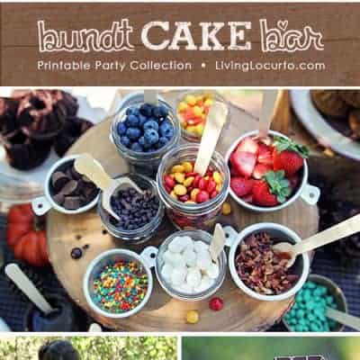 Decorate Your Own Bundt Cake Bar | Free Party Printables