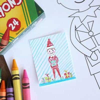 Elf Free Printable Coloring Sheets
