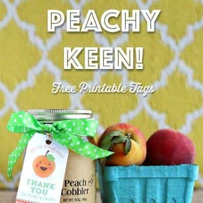 You're Peachy Keen! Free Printable Gift Tags