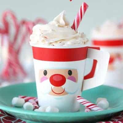 Hot Chocolate Cupcakes with Peppermint Frosting