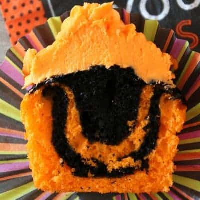 Halloween Cupcakes | Easy Tie Dye Cake Recipe