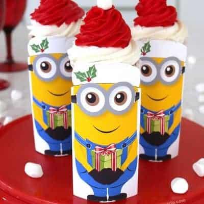 Minions Christmas Cupcakes