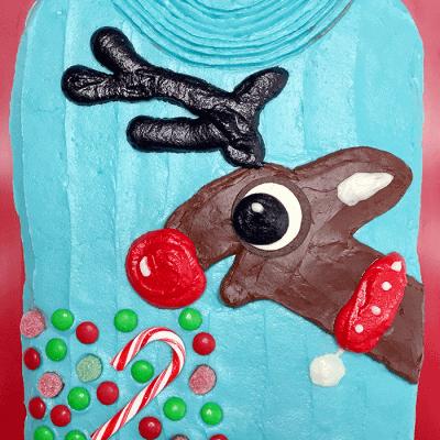 Reindeer Ugly Christmas Sweater Cake