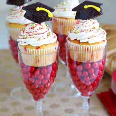 Funfetti Graduation Cupcakes