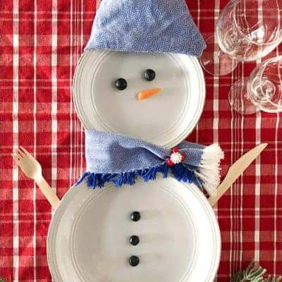 5 Snowman Plates for a Christmas Table