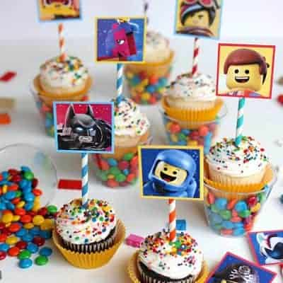 LEGO Movie Cupcakes & Printables