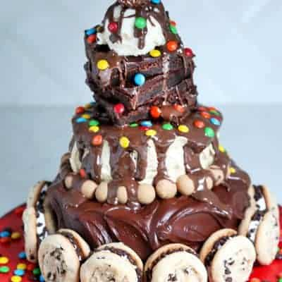 Hot Fudge Sundae Birthday Cake